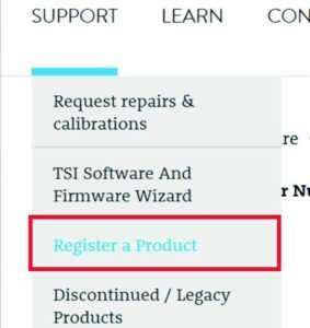 Register a product